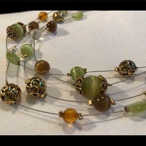 Lia Sophia 4 Strand Mulit-Bead Necklace